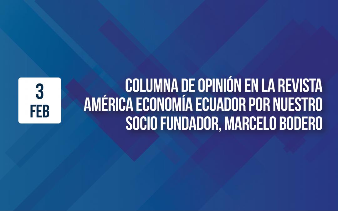 Columna de opinión en la revista América