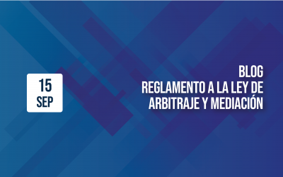 REGLAMENTO A LA LEY DE ARBITRAJE Y MEDIACIÓN